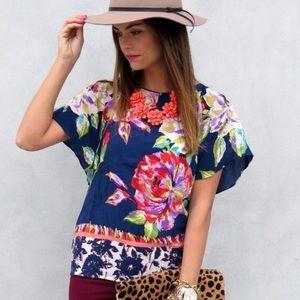 Maeve Gardenia floral Shirt